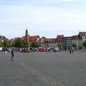 Erfurt - Blick vom Dom auf Altstadt