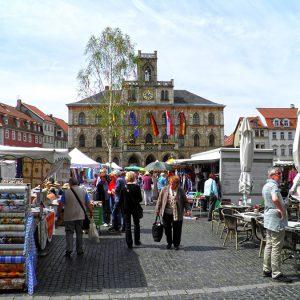Weimar - Rathaus und Markt